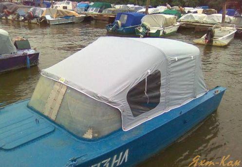 как лучше сделать тент на лодку