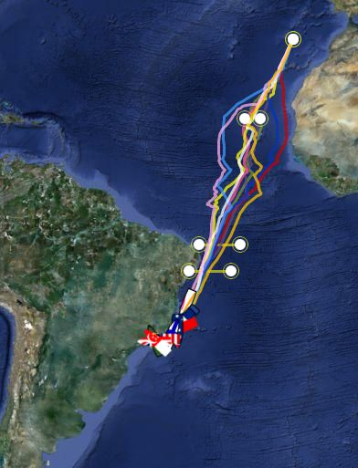 Route Clipper Round the World Yacht Race 2011 1-2