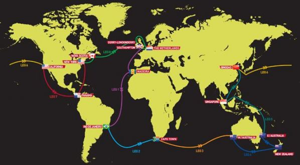Маршрут Clipper Round the World Yacht Race 2011-2012