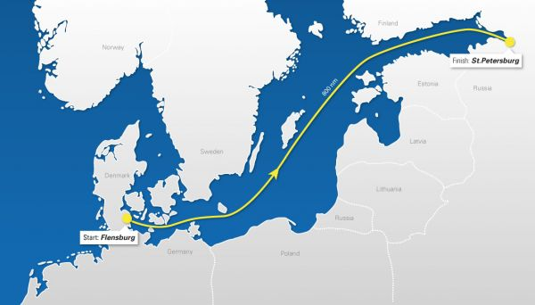 Nord Stream Race 2013 - маршрут
