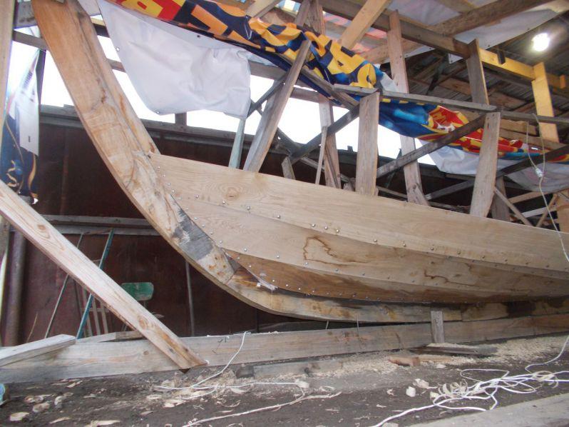 Реплику средневекового корабля строят в Липецкой области