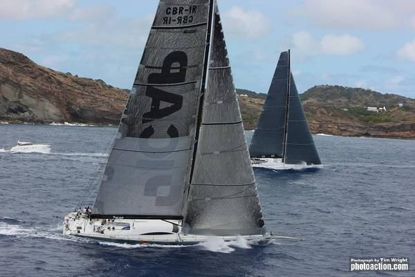 ICAP Leopard and Rambler 100 at the start of the RORC Caribbean 600